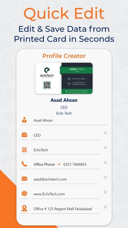 Business Card Scanner Reader screenshot-4
