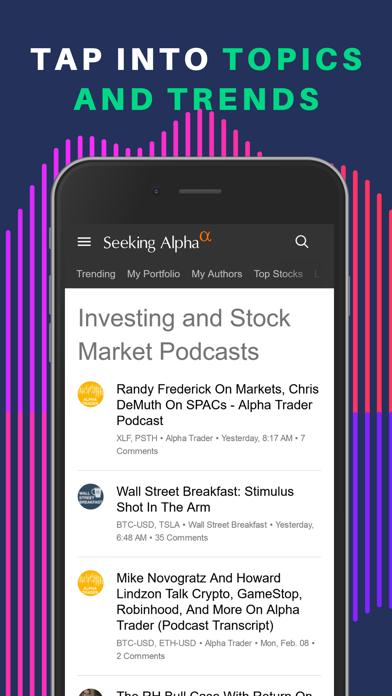 Seeking Alpha: биржа и новостиСкриншоты 8
