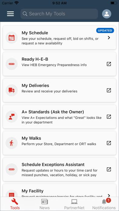 PartnerNet H-E-B Screenshot on iOS