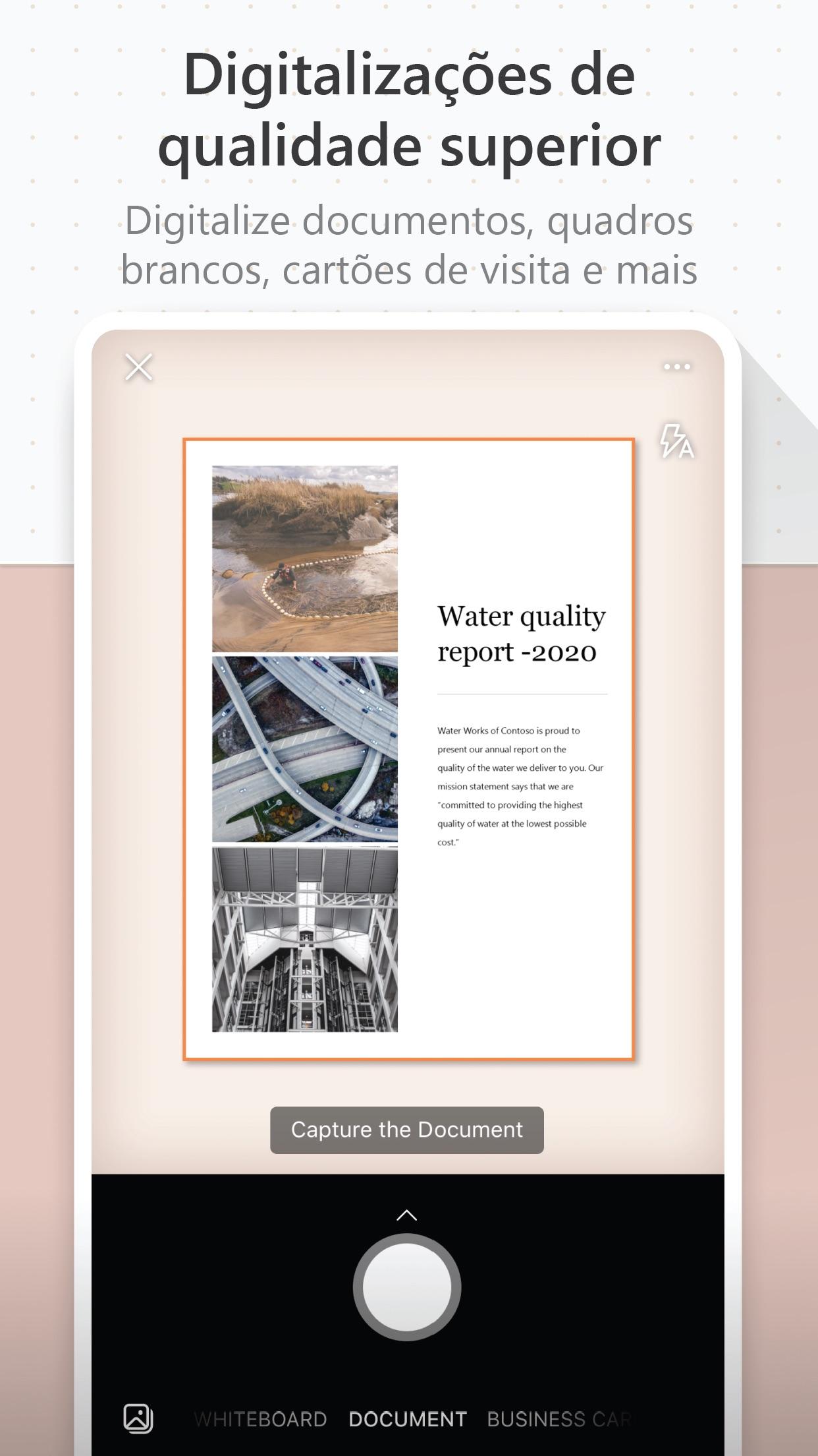 Screenshot do app Microsoft Office Lens|PDF Scan