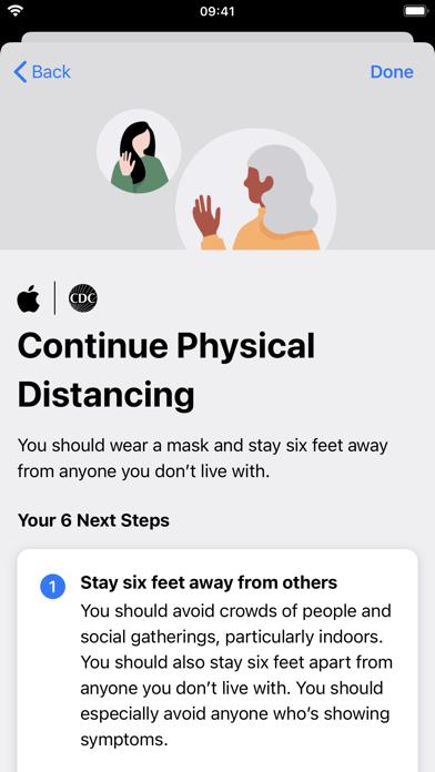 Apple COVID-19 Screenshot