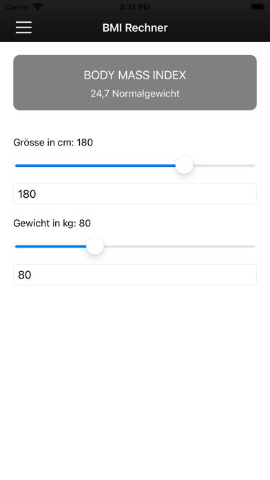 TEA-NET BMI RechnerScreenshot von 3