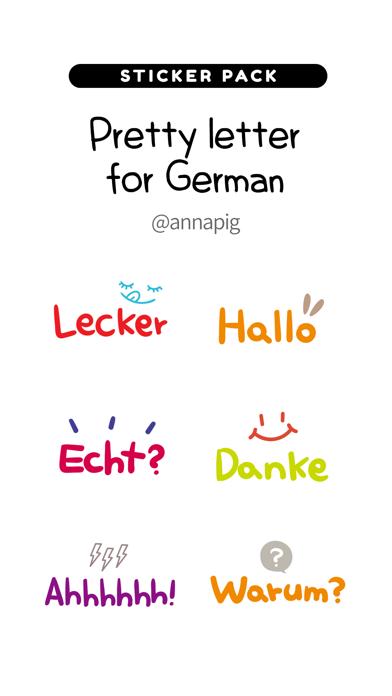 Pretty letter for German screenshot 1