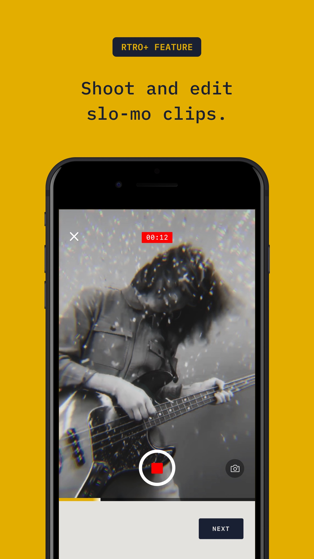 Screenshot do app RTRO - Camera by Moment