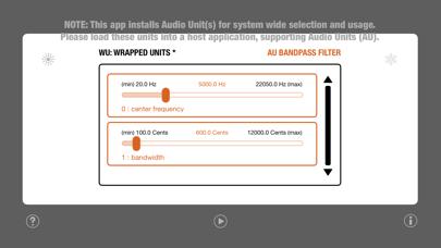 WU: AUBandpassFilter screenshot 2