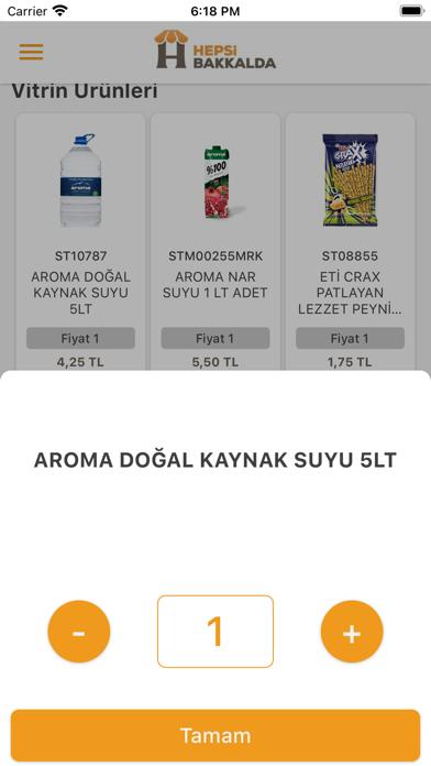HepsiBakkalda Screenshot