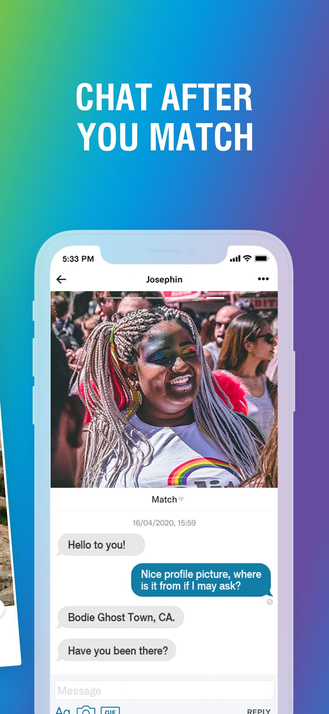 Screenshot do app HER: Lesbian Dating & Chat App