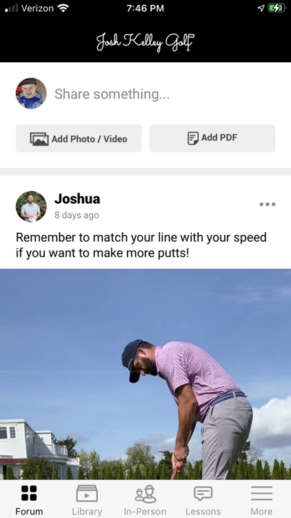 Josh Kelley Golf