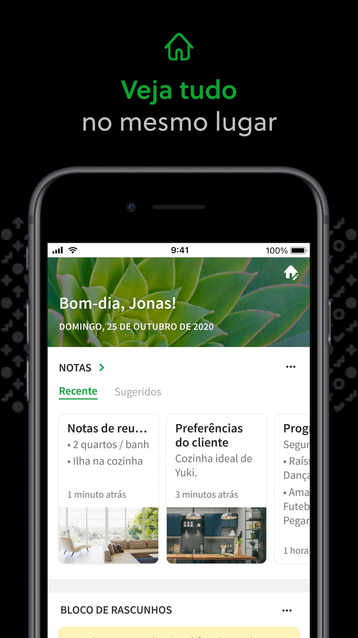 Screenshot do app Evernote