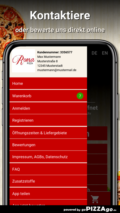 Roma Pizza Tübingen Lustnau screenshot 3