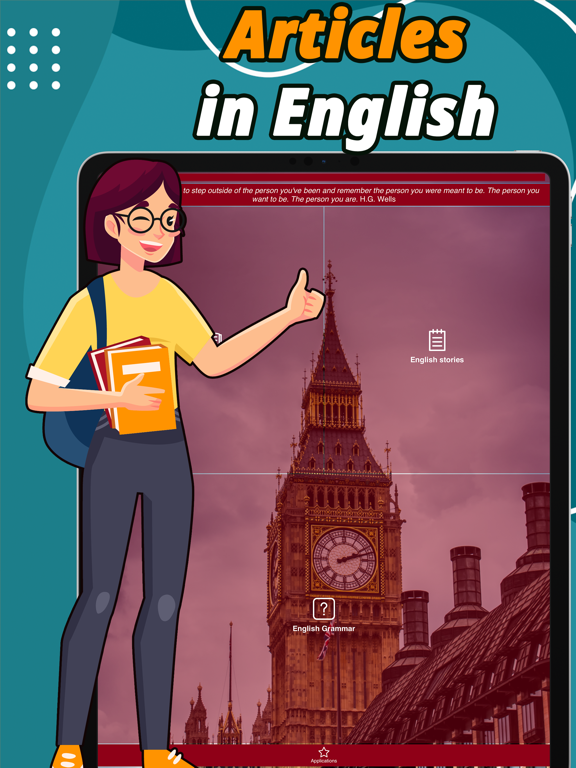 Articles in English: Learn app Screenshots