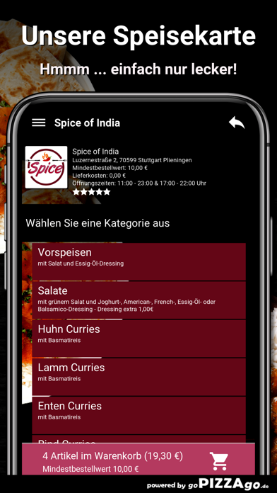 Spice of India Plieningen screenshot 4