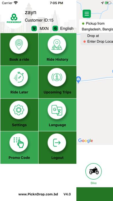 Customer App For Pickndrop Screenshot