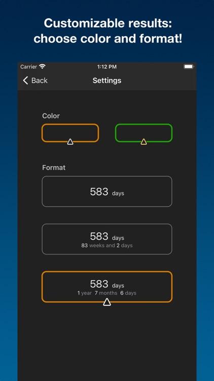 Days calc - dates calculator screenshot-4