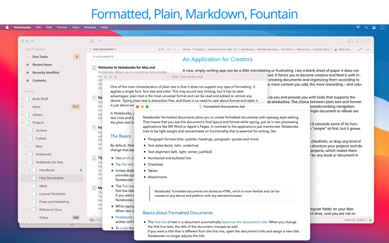 Notebooks: Write & Organize скриншот программы 3
