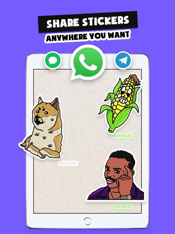 iPad Image of Stickers Funny of Meme & Emoji