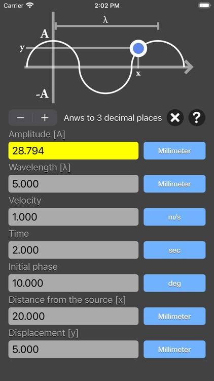 Harmonic Wave Equation Calc screenshot-5