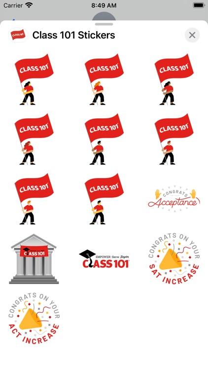 Class 101 Sticker Pack