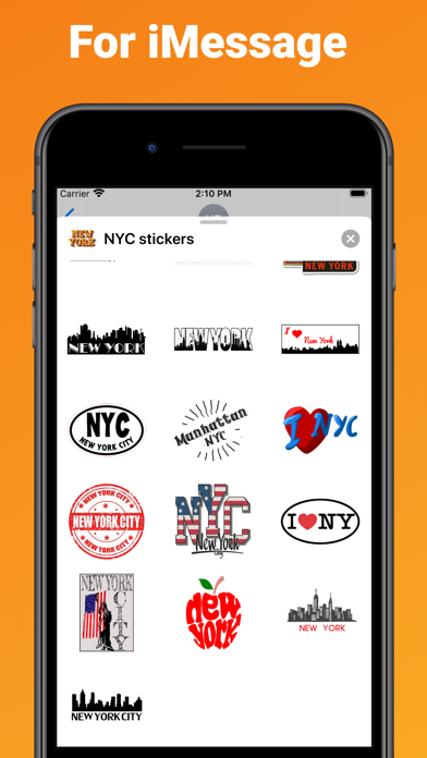 New York City stickers & emoji screenshot 3