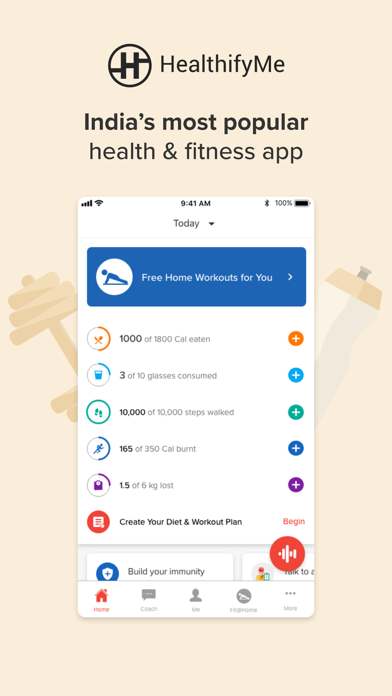 Screenshot #1 pour HealthifyMe: Weight Loss Plan