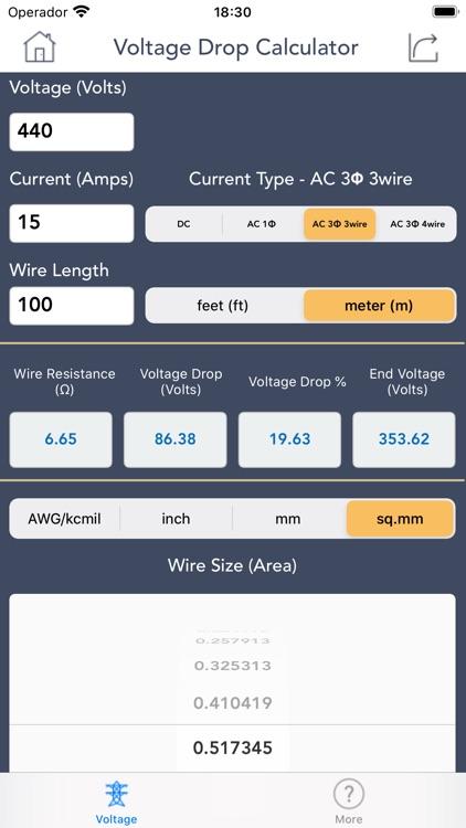 Voltage Drop Calculator. screenshot-6