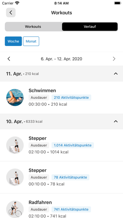 SC Egling Fitness AppScreenshot von 8
