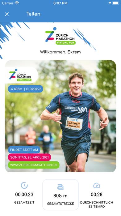Zürich Marathon Virtual RunScreenshot von 7