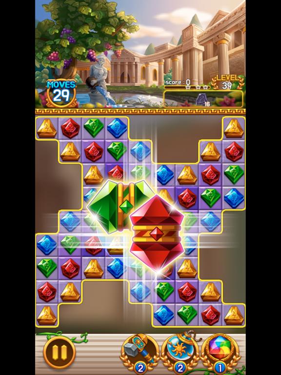 Jewel Athena: Match3 Puzzleのおすすめ画像1