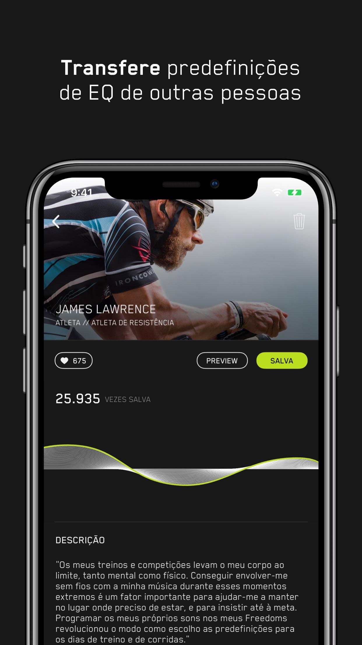 Screenshot do app Jaybird MySound