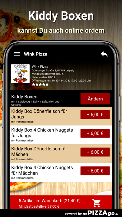 Wink Pizza Leipzig screenshot 5