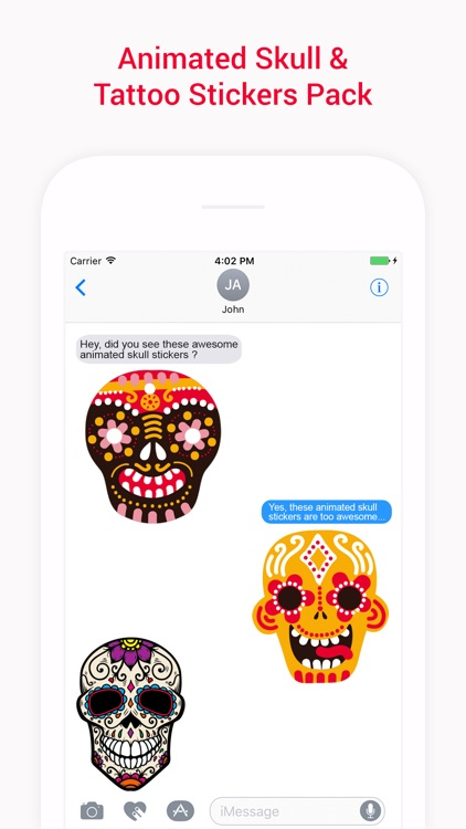 Animated Skulls&Tattoo Sticker screenshot-3