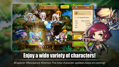 MapleStory M: Fantasy MMORPG free Crystals and Time hack