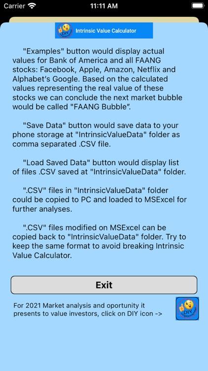 Intrinsic Value Calculator DIY screenshot-5