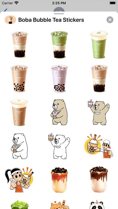 Boba Bubble Tea Stickers screenshot 2