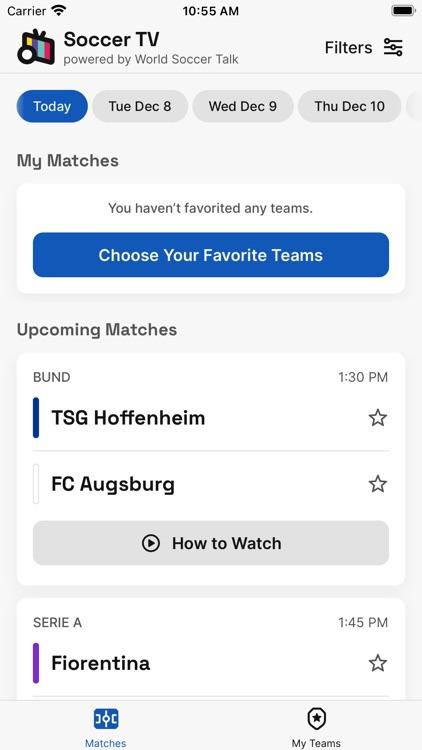 Soccer TV Schedules