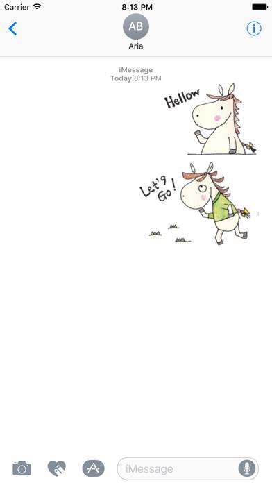 Daily Life of Cute Horse Icons screenshot 1