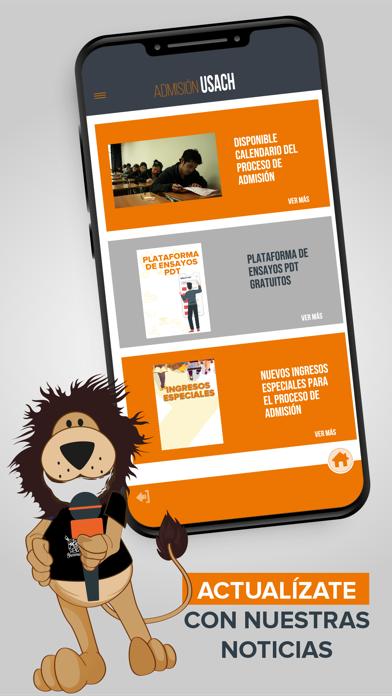 Screenshot of Admisión USACH App
