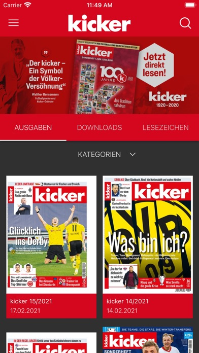 cancel kicker eMagazine app subscription image 1