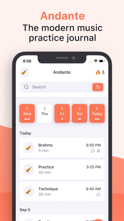 Andante - Practice Journal