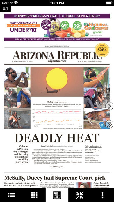 The Arizona Republic Print Screenshot