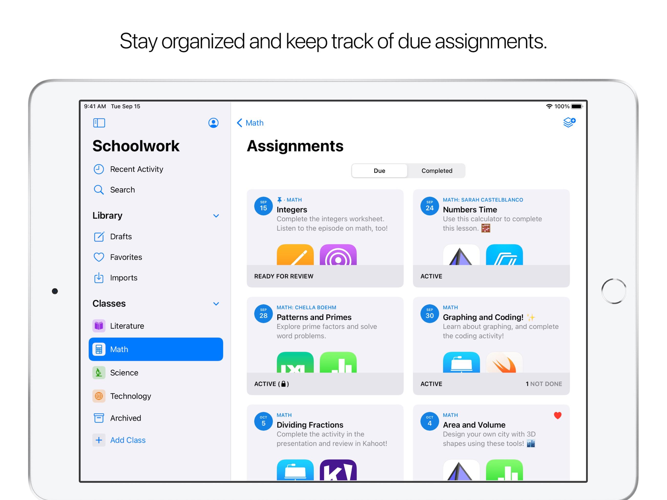 Screenshot do app Projeto Escolar