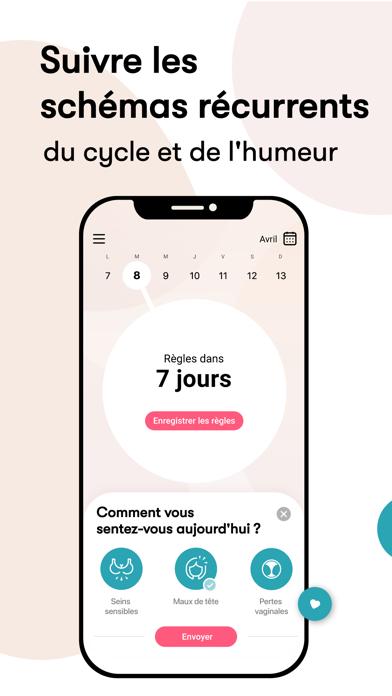 Flo Calendrier Regles & Cycle iphone captures décran