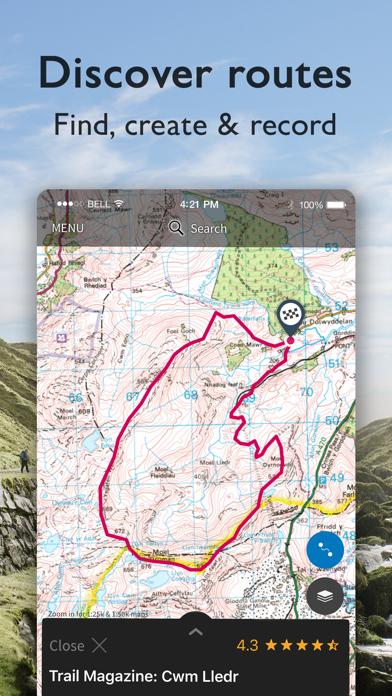 OS Maps: Walking & bike trails på PC