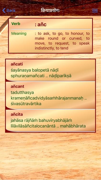 Sanskrit Dhatu 360° screenshot-9
