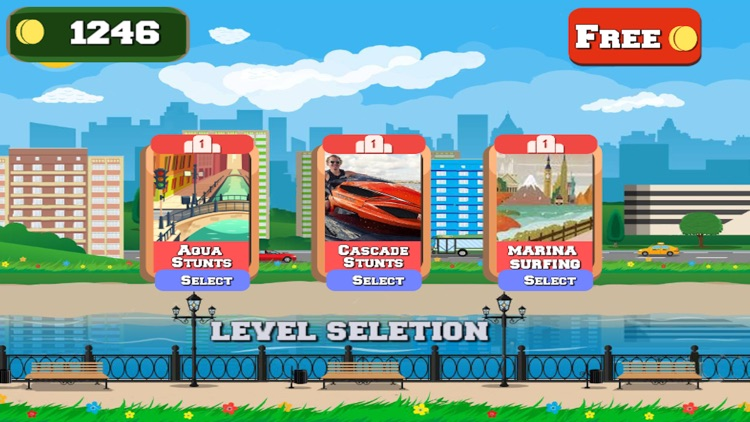 WATER BIKE STUNT RACE GAMES 3D screenshot-2