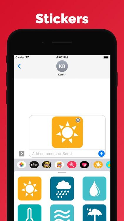 Weather stickers and emoji