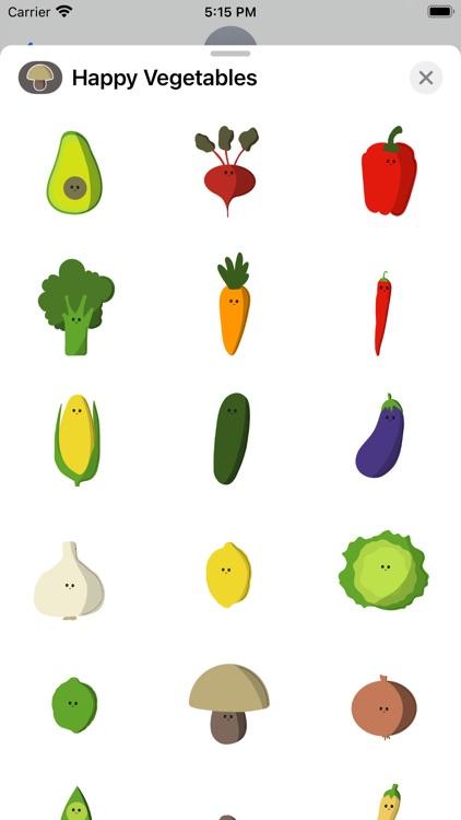 Happy Vegetables Stickers