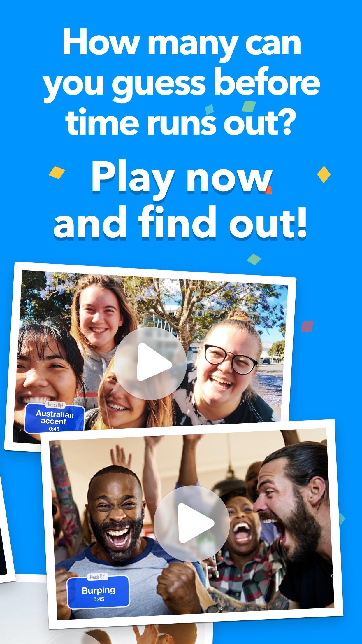 Screenshot do app Heads Up!