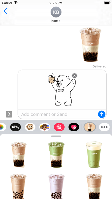 Boba Bubble Tea Stickers screenshot 1