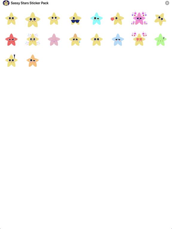 Sassy Stars Sticker Pack screenshot 6